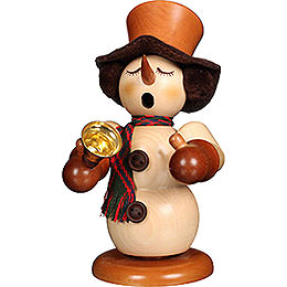 Smoker - Snowman with Bell Natural - 23 cm / 9.1 inch