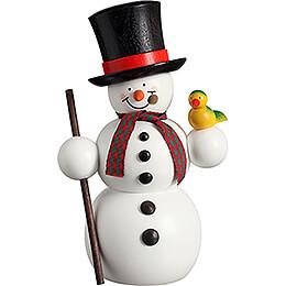 Smoker - Snowman with Bird  - 15 cm / 5.9 inch
