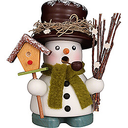 Smoker - Snowman with Bird House - 10,5 cm / 4.1 inch