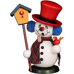 Smoker - Snowman with Bird House - 23 cm / 9.1 inch