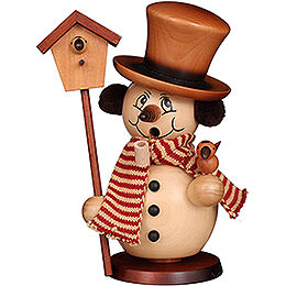 Smoker - Snowman with Bird House Natural - 23 cm / 9.1 inch
