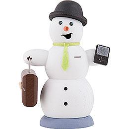 Smoker - Snowman with Brief Case - 13 cm / 5.1 inch