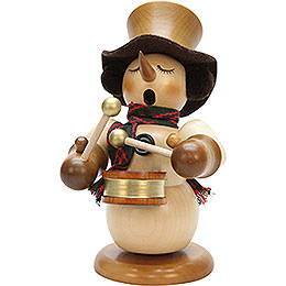 Smoker - Snowman with Drum Natur - Limited - 23 cm / 9.1 inch