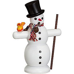 Smoker - Snowman with Scarf - 16 cm / 6 inch