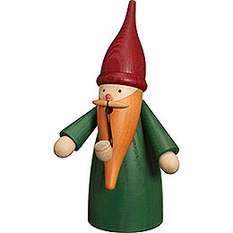 Smoker - Traditional Gnome Green - 16 cm / 6 inch