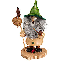 Smoker - Tree Gnome, Linden Leaf - 18 cm / 7 inch