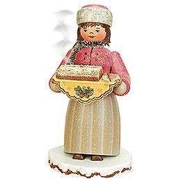 Smoker - Winterchild Girl with Stollen - 20 cm / 8 inch