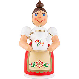 Smoker - Woman with Apron and Pot - 17 cm / 6.7 inch