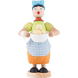 Smoker - Woman with Dumplings - 17 cm / 6.7 inch