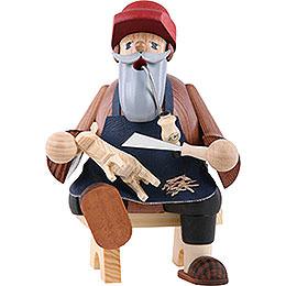 Smoker - Wood Carver - Shelf Sitter - 16 cm / 6 inch