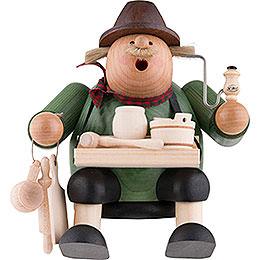 Smoker - Woodcraft Seller - Shelf Sitter - 15 cm / 6 inch
