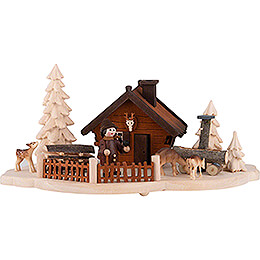 Smoking Hut - Forester's house - 11 cm / 4.3 inch