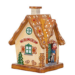 Smoking Hut - Gingerbread House - 17 cm / 6.7 inch