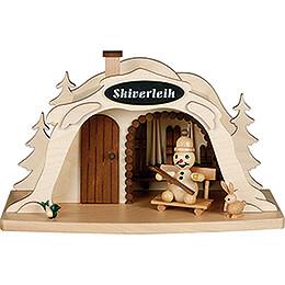 Smoking Hut - Ski Rental with Junior Snowman - 17 cm / 6.7 inch