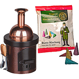 Smoking Stove - Brewing Kettle Brown Hammertone - 13 cm / 5.1 inch