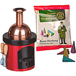 Smoking Stove - Brewing Kettle Red - 13 cm / 5.1 inch