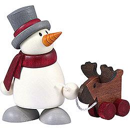 Snow Man Otto with Elk - 8 cm / 3.1 inch