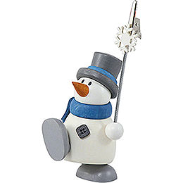 Snow Man Otto with Sign Holder - 8 cm / 3.1 inch