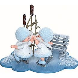 Snowflake Figure Skating Couple - 10x7x6 cm / 4x2.8x2.3 inch