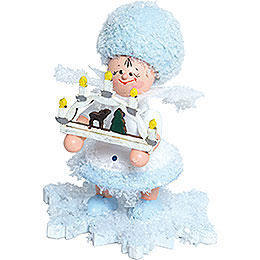 Snowflake with Candle Arch - 5 cm / 2 inch