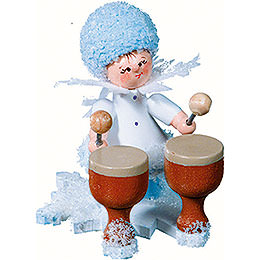 Snowflake with Kettledrum - 5 cm / 2 inch