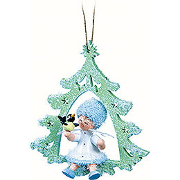 Snowflake with Little Bird - 12x7x3 cm / 4.7x2.8x1.2 inch
