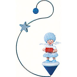 Snowflake with Present - 12x7x3 cm / 4.7x2.8x1 inch
