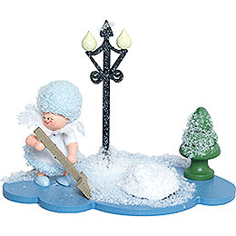 Snowflake with Snow Shovel - 8 cm / 3 inch