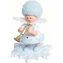 Snowflake with Trumpet - 5 cm / 2 inch