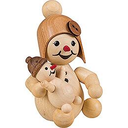 Snowgirl with Doll - 7 cm / 2.8 inch