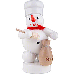 Snowman Baker with Flour Bag and Scoop - 8 cm / 3.1 inch