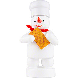 Snowman Baker with Waffle - 8 cm / 3.1 inch