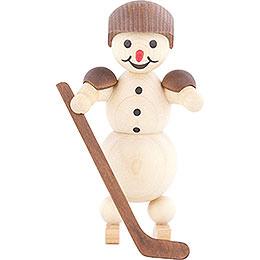Snowman Ice Hockey Player standing Helmet - 10 cm / 3.9 inch