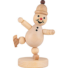 Snowman -  Junior  Ice Skater on one leg - 9 cm / 3.5 inch