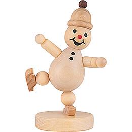 Snowman -  Junior  Ice Skater on one leg - 9 cm / 3.5 inch