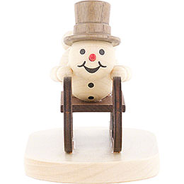 Snowman Luge Athlete - 9 cm / 3.5 inch