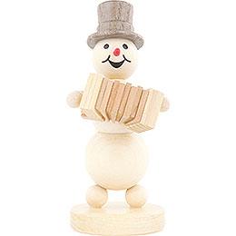 Snowman Musician Accordion - 12 cm / 4.7 inch