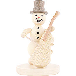 Snowman Musician Bass Violin - 12 cm / 4.7 inch