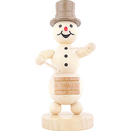 Snowman Musician Drummer - 12 cm / 4.7 inch