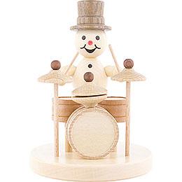 Snowman Musician Drums - 12 cm / 4.7 inch
