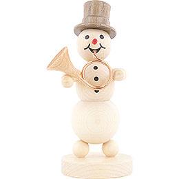 Snowman Musician Hornblower - 12 cm / 4.7 inch