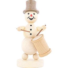 Snowman Musician Long Drum - 12 cm / 4.7 inch