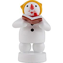 Snowman Musician Singer - 8 cm / 3 inch