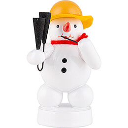 Snowman Musician with Agogo - 8 cm / 3.1 inch