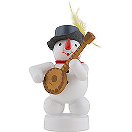 Snowman Musician with Banjo - 8 cm / 3 inch