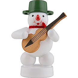 Snowman Musician with Guitar - 8 cm / 3 inch