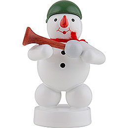 Snowman Musician with Horn - 8 cm / 3 inch
