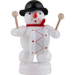 Snowman Musician with Kettledrum - 8 cm / 3 inch