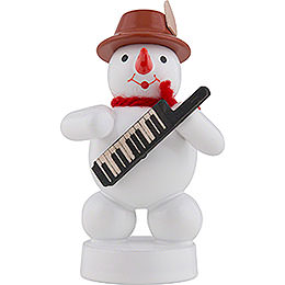 Snowman Musician with Keyboard - 8 cm / 3 inch