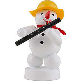 Snowman Musician with Oboe - 8 cm / 3 inch